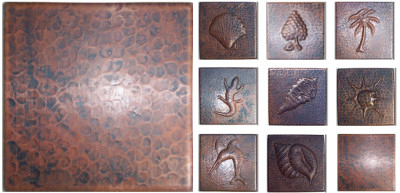 Styles of copper tiles